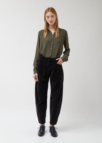 Black Velvet Alpha Pants
