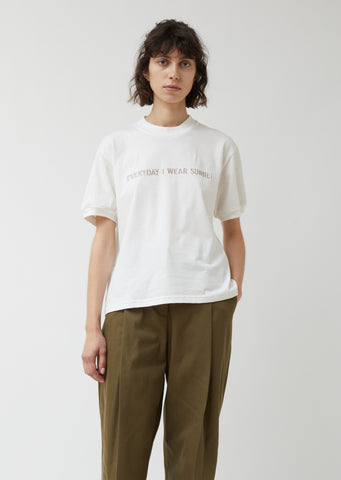 Embroidered Everyday Wear Sunnei Tee