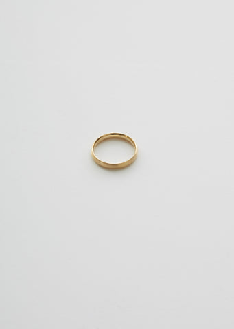 18K Classic Oval Ring — 3.0mm
