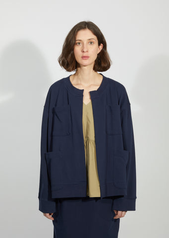 Patched Front Pockets Cardigan