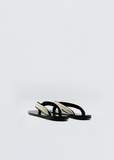 Swan Sandal — Black/White
