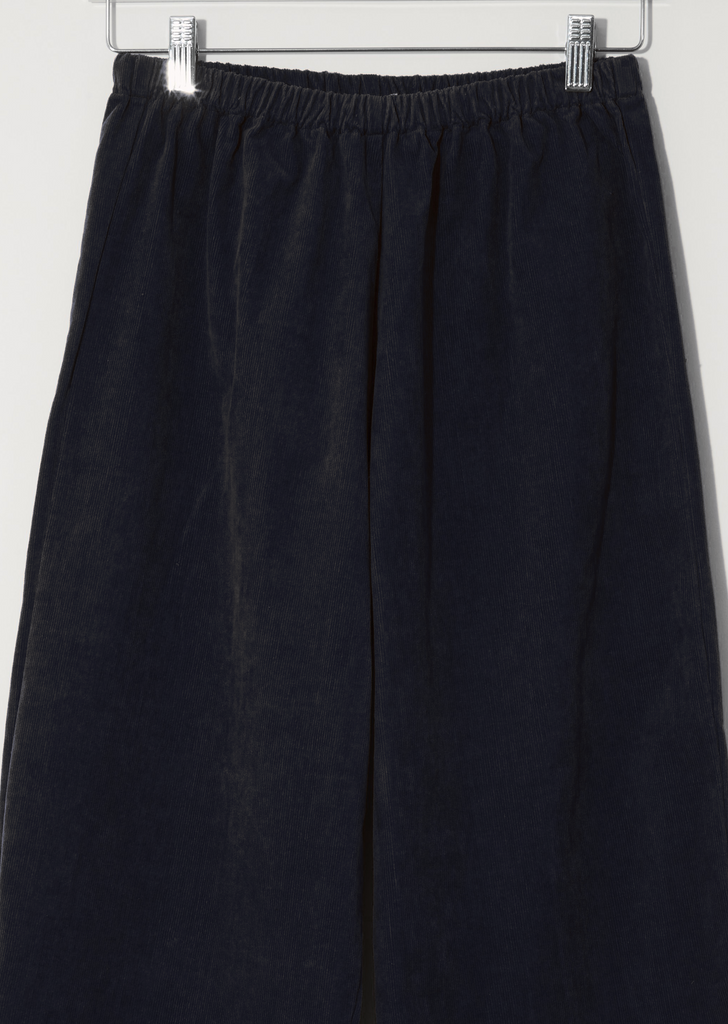 Cotton Pullon Trousers — Blue Black
