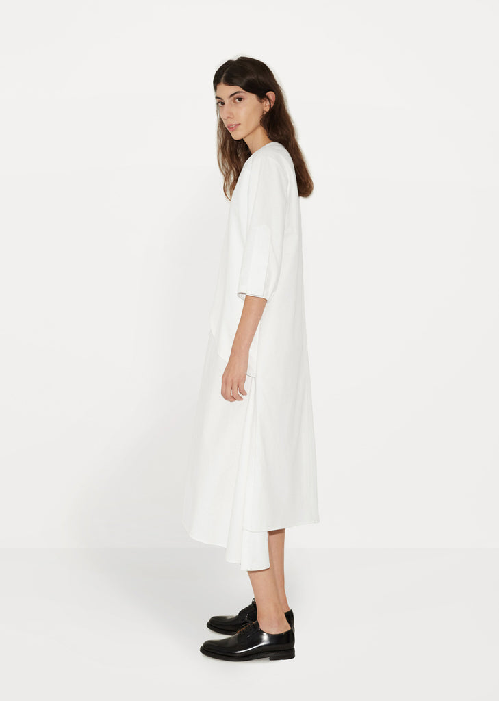 Gather Tie Shirt Dress
