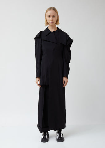Shoulder Deconstructed Asymmetrical Coat