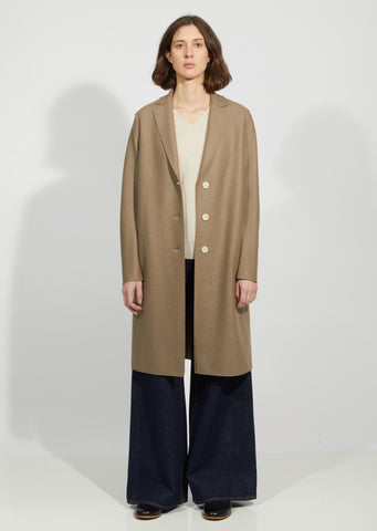 Light Pressed Wool Coat