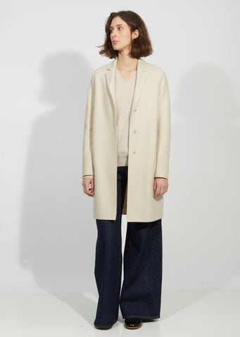 Bi-Color Cocoon Coat