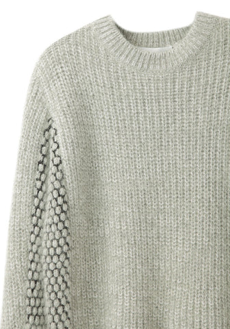Cropped Mixed Stitch Pullover