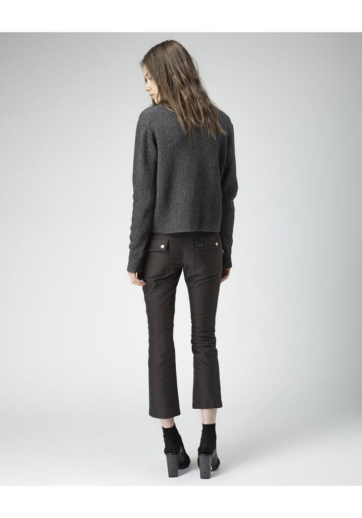 Cropped Roll-Neck Pullover