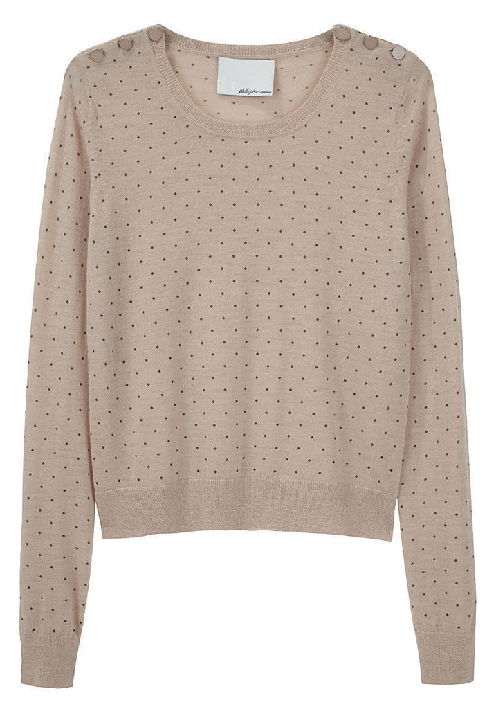 Dotted Crewneck Pullover