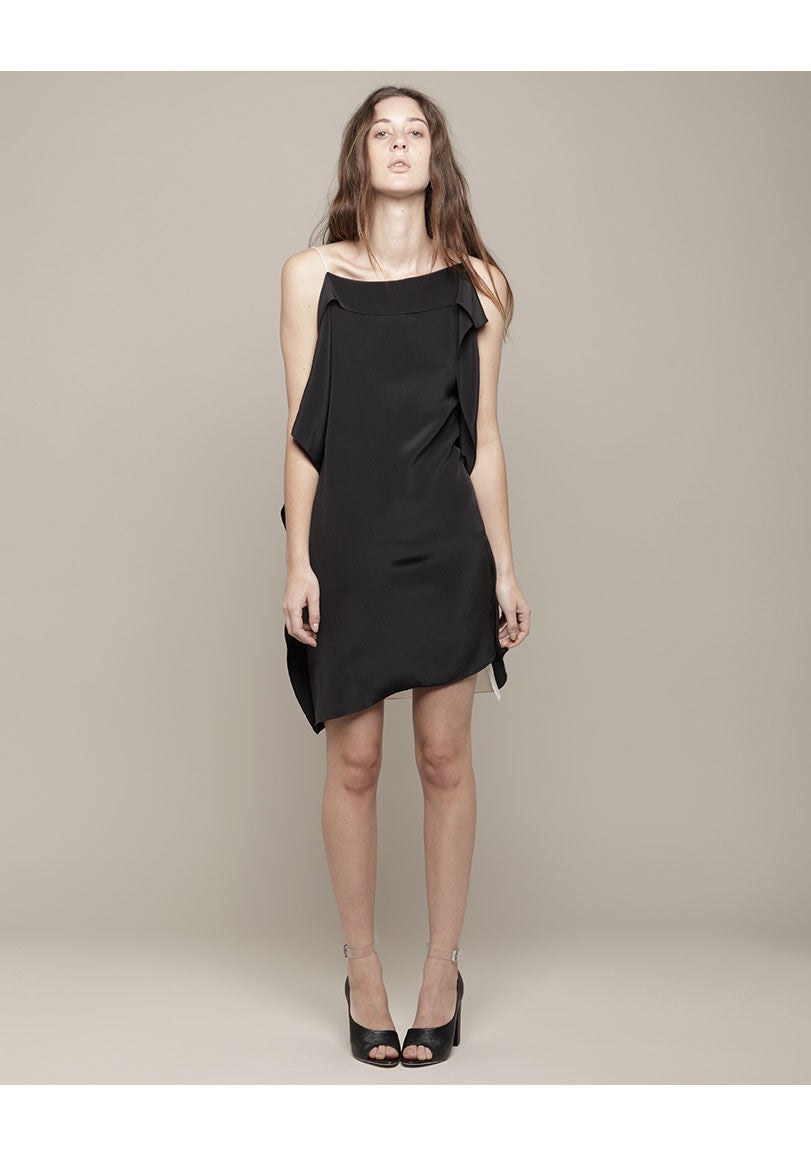 Draped Kite Panel Dress