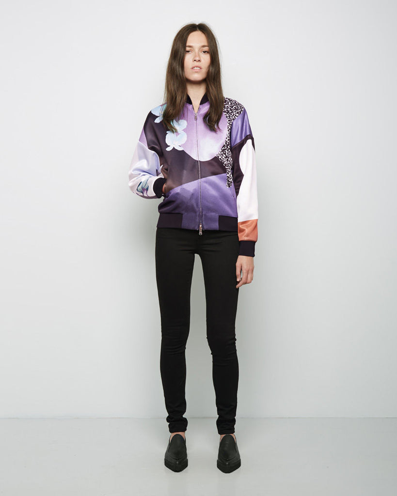 Dropped Shoulder Graffiti Bomber