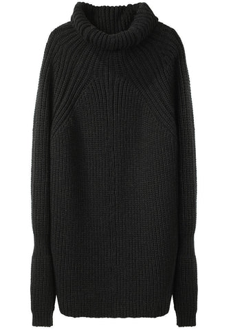 Funnel Neck Cocoon Sweater