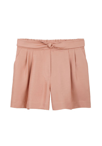 Knot Front Pleated Short