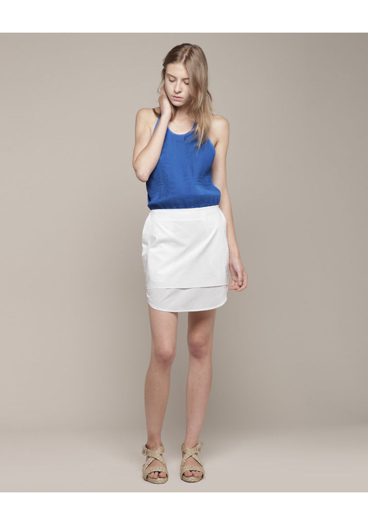 Layered Curved Hem Skirt