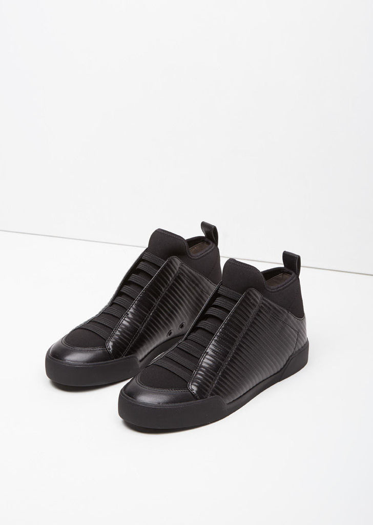 Quilted Morgan High-Top Sneaker