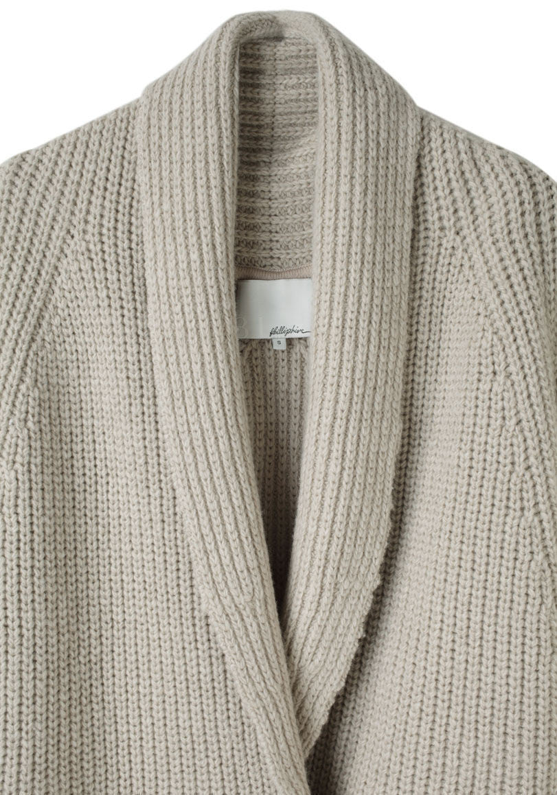 Oversized Shawl Collar Cardigan