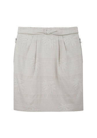 Palm Tree Jacquard Skirt
