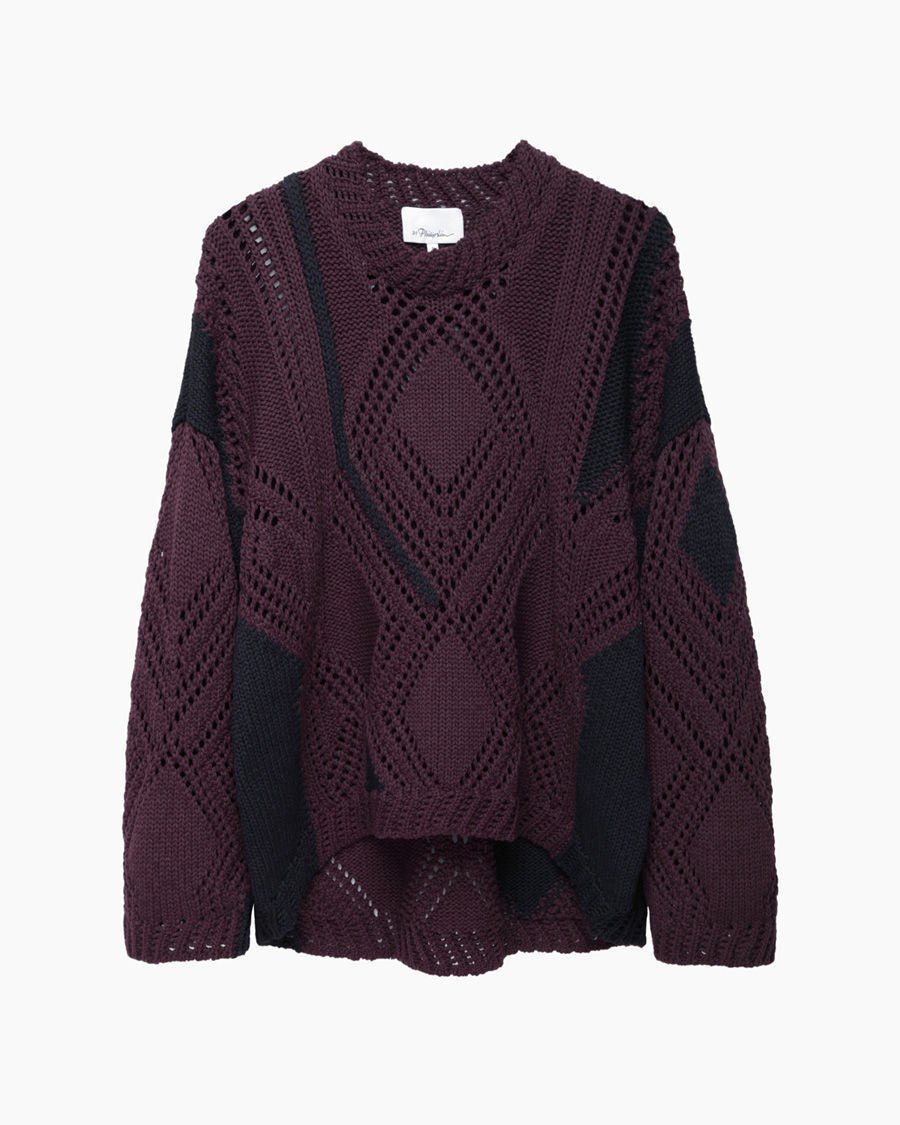 Pointelle Cable Intarsia Knit