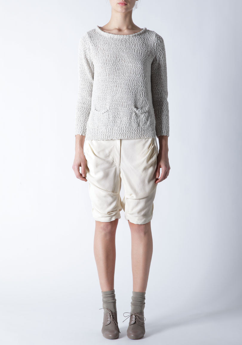 Pullover w/ Cropped Back