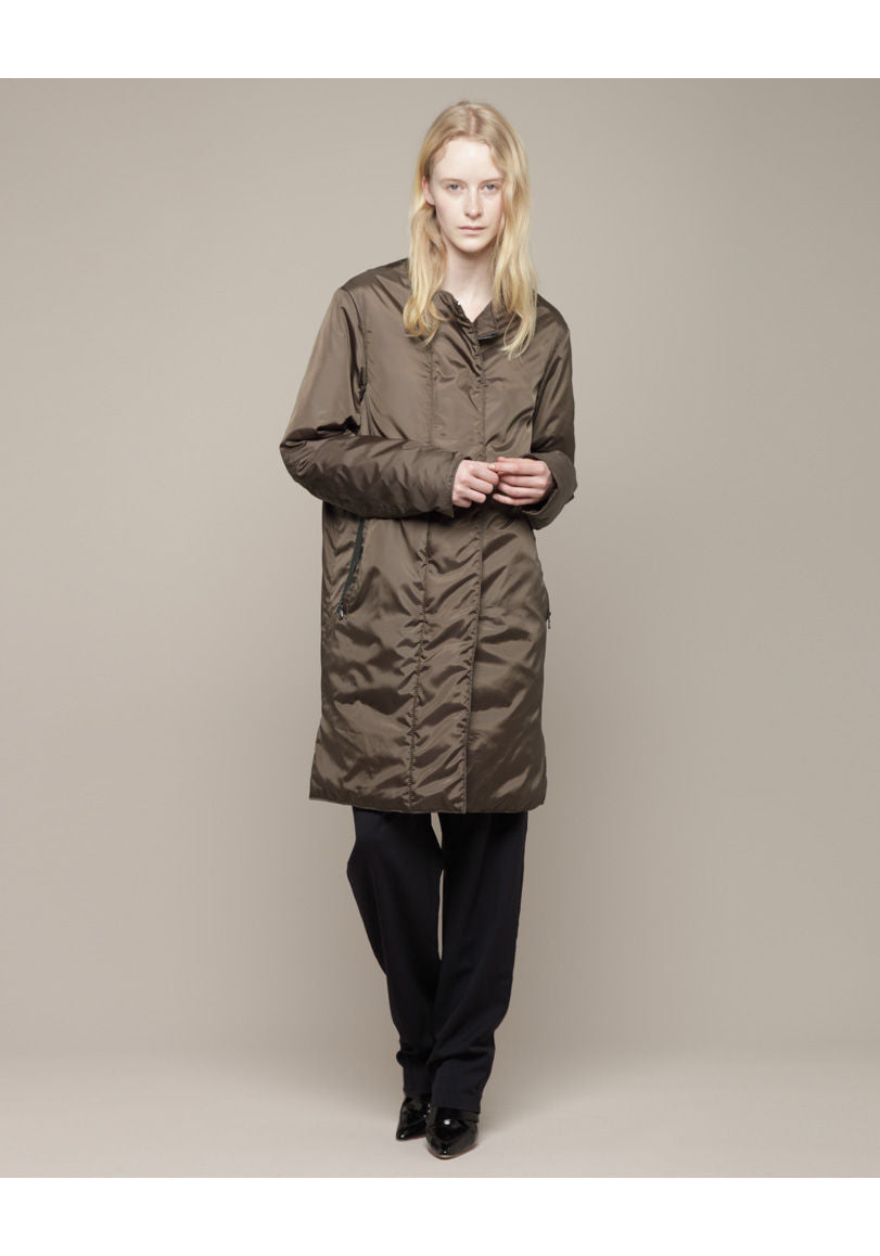 Reversible Long Piumino Overcoat