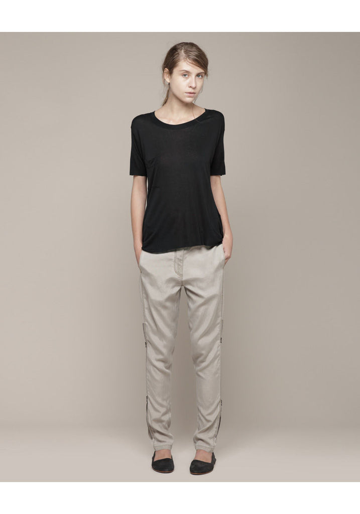 Silk Trouser with Side Zip