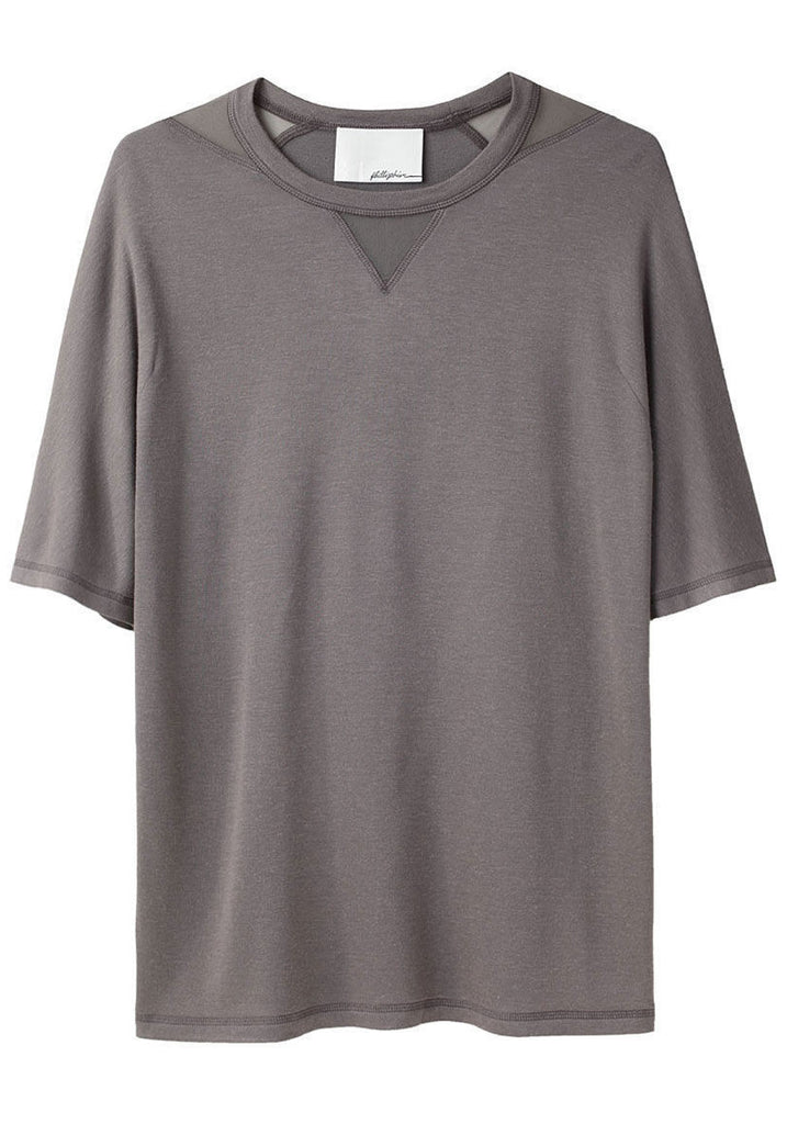 T-Shirt with Notched Neckline