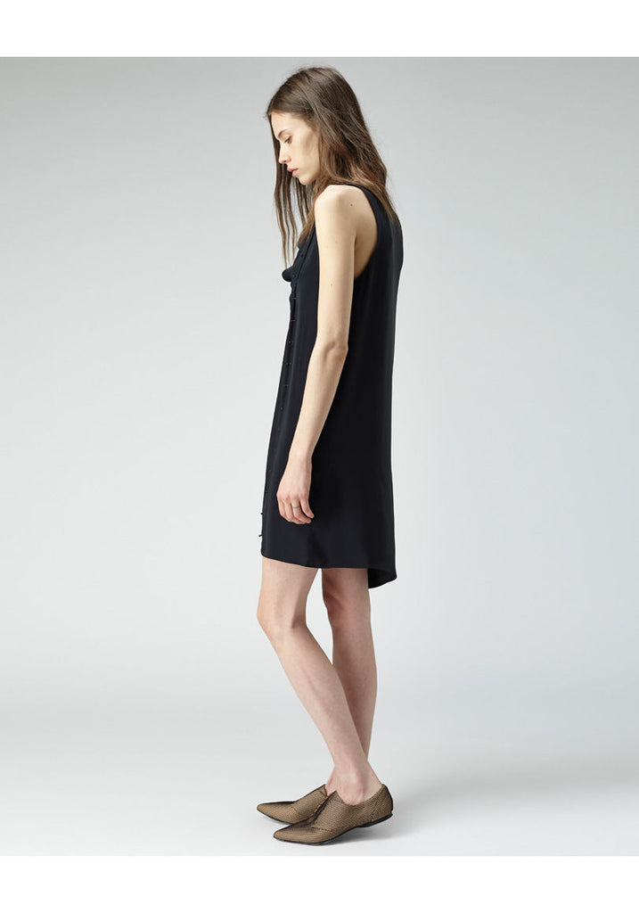 Twisted Placket Dress