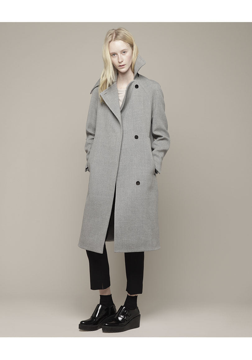Wrap Collar Overcoat
