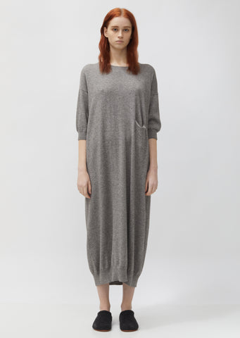 Cotton & Baby Alpaca Big Crewneck Dress