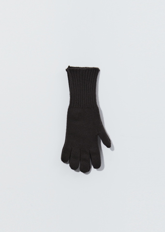Merino Cashmere Gloves — Ebony