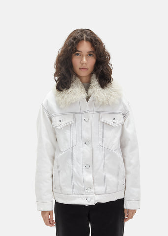 Shearling Fur Lining Denim Jacket
