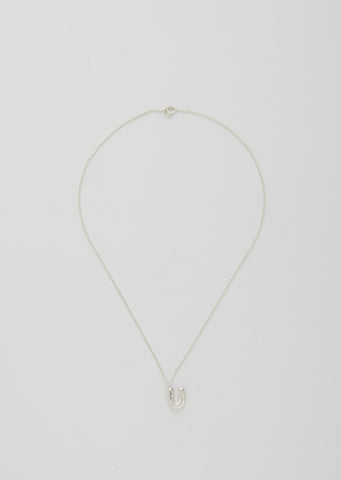 Balloon Letter Necklace - U
