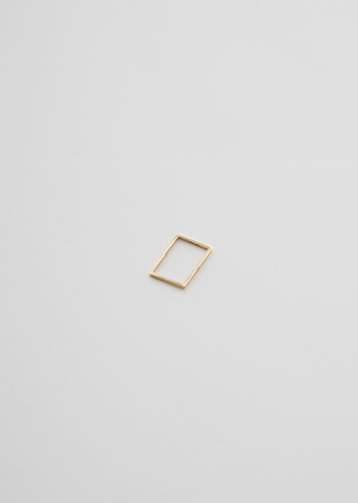 18K Rectangular Form Earring 02 — 20mm