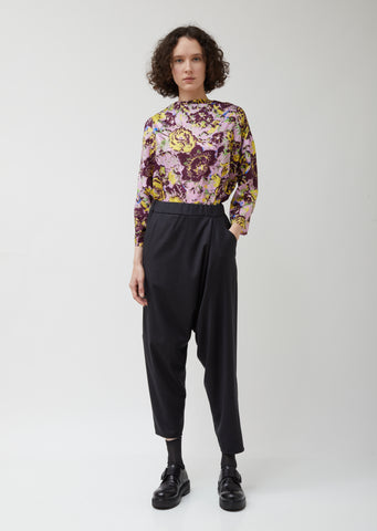 Asymmetric C Organic Wool Pants