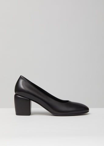 Smooth Leather Heel