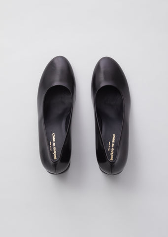 Smooth Leather Heel — Black