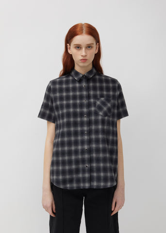Ombre Check Flannel Shirt