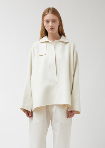 Canton Wool-Cashmere Blend Boxy Pullover Jacket