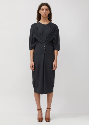 Loose Button Dress