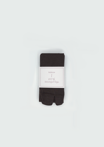 Fine Wool Tabi Tights — Brown