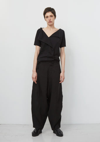 Linen Belted Sarouel Trousers