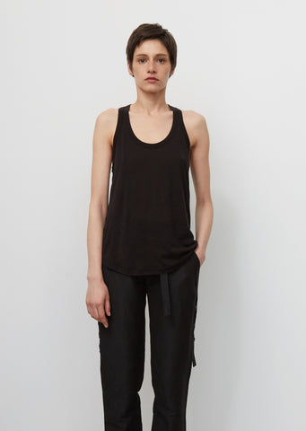 Sleeveless Top with Plisse Detail