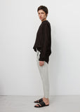 Silver Cropped Tapered Trousers