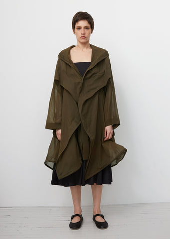 Wired Hooded Coat