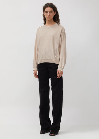 Loose Button Sweater