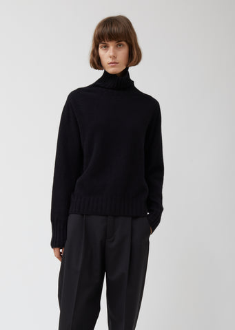 Wide Roll Neck Cashmere Sweater