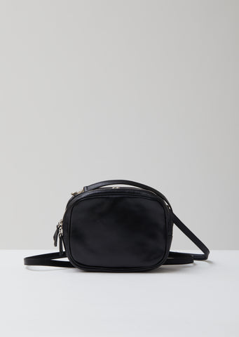 Leather Clasp Pouch Shoulder Bag