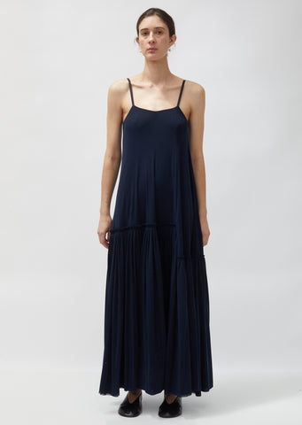 Long Crepe Slip Dress