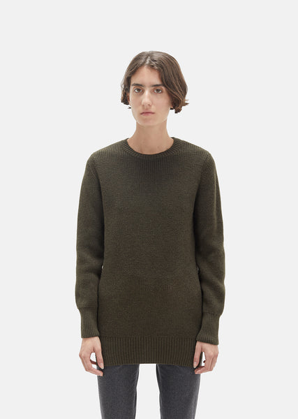 Italian Merino Military Sweater