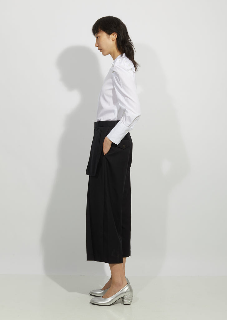 Wool Exposed Pocket Pants